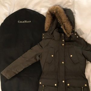 Cole Haan parka brand new never worn